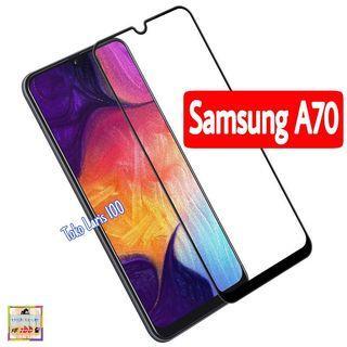 Tempered Glass Samsung A70 Warna Hitam 9D - Screen Guard