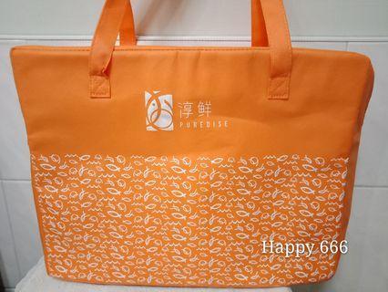 🚚 淳鮮 大容量拉鍊式保溫袋 保冷袋 野餐袋 購物袋