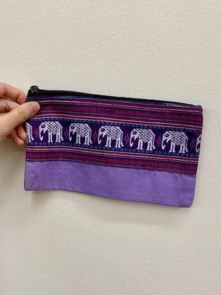Handmade elephant pencil case/ pouch