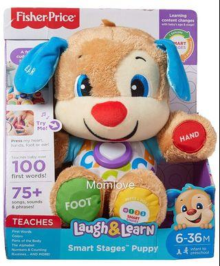Ready Stock! Brand New Fisher-Price Laugh & Learn Smart Stages Puppy 6-36m (Best Baby Shower Full-moon Newborn Present)