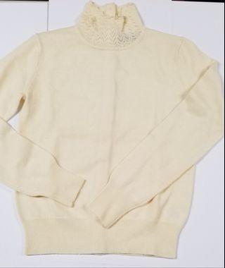 Giordano Ladies 米白色羊毛冷衫 beige sweater