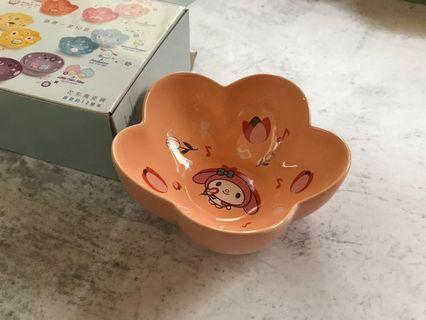 711 Melody 美樂蒂花形陶瓷碗