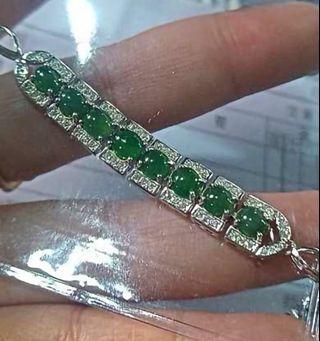 925银A级翡翠女装手链。