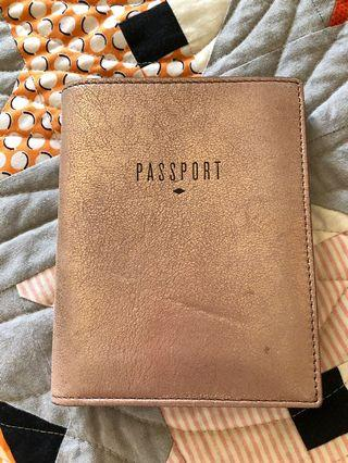 Fossil genuine leather travel wallet