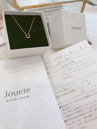 Jouete日本 10k 氣質馬蹄項鍊