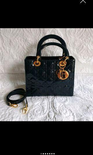 Lady Dior Bag in navy blue