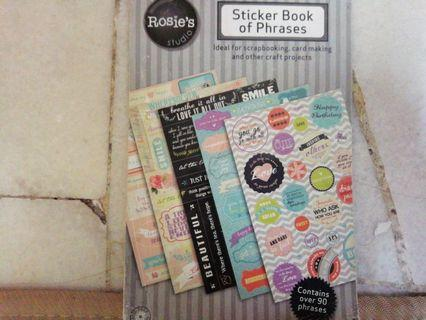 Rosie Sticker Book Of Phrase
