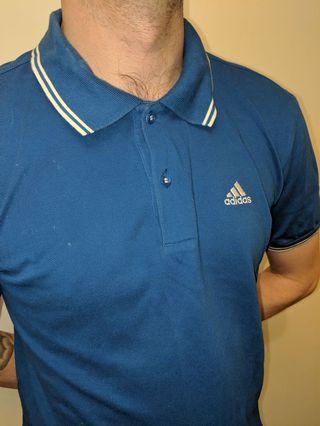 Electric Blue Adidas Polo