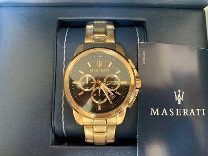 🚚 Maserati瑪莎拉蒂 三眼計時鋼錶 (限時特惠)