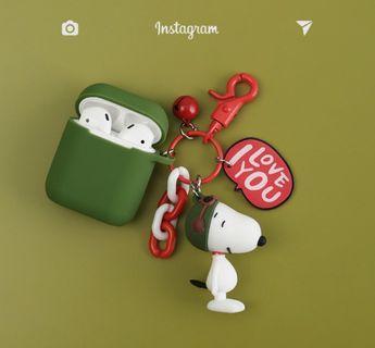 現貨🔥Snoopy Airpods保護套 snoopy耳機保護套 史努比掛飾 硅膠保護套 airpods case snoopy掛飾 snoopy鎖匙扣