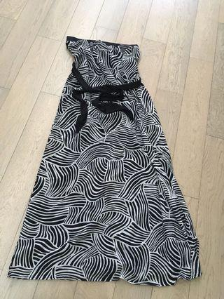 Long sexy patterned tube dress in good condition worn twice
