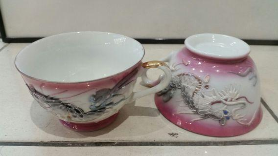 🚚 Old Chinese Tea cup with Dragon