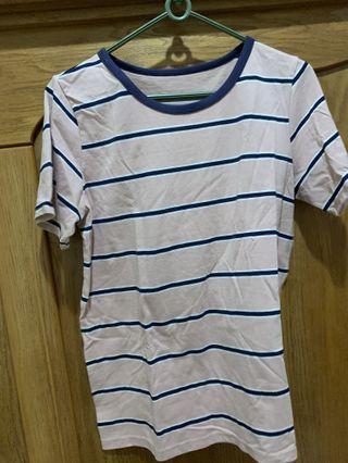 🚚 粉色藍條紋T恤