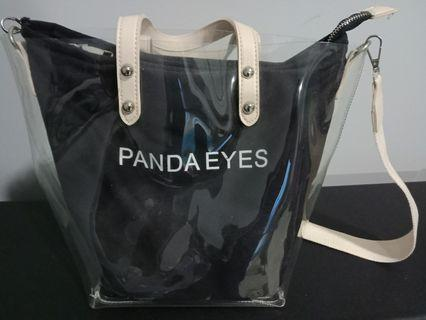 Transparent shoulder/ handbag