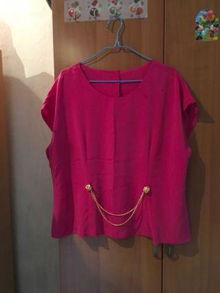 Queen Size Hot Pink Top
