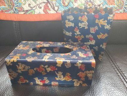 紙巾盒+小型垃圾桶