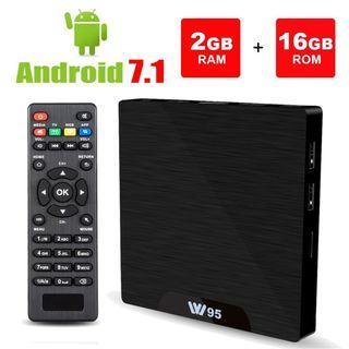 2GB RAM+16GB ROM W95 Smart TV Box with Amlogic S905W 64Bits Quad-Core,  HDMI Output, USB2, 4K UHD Web TV Box With Built In Wifi
