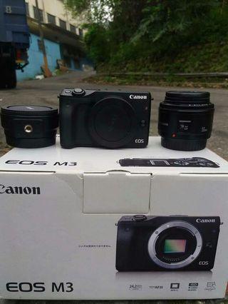 canon eos m3 lens 18-55mm lens 50m+adaptor