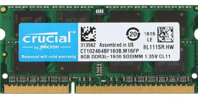 8GB Laptop Ram DDR3L-PC3L 1600Mhz SODIMM