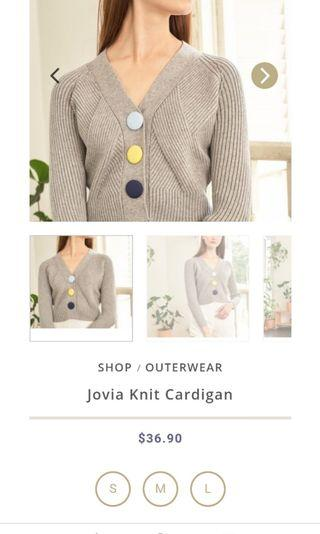 Lovengold jovia grey cardigan