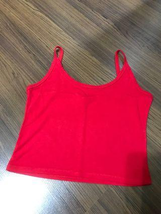 Red Crop Top (singlet)
