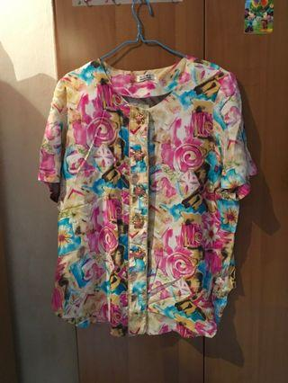 Queen Size Floral Top