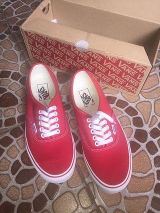 Sepatu vans authantic red ORI sz40,5 sekali pake