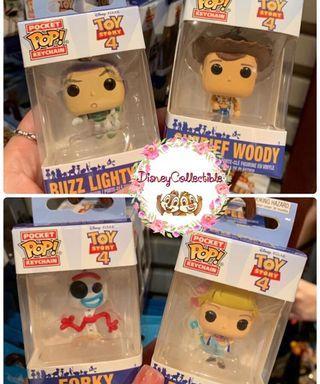🚚 HK Disneyland Toy Story 4 Forky Woody Alien Buzz lightyear POP Keychain
