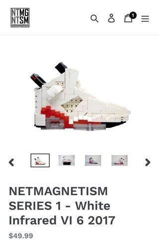 Netmagnetism Air Jordan VI White Infrared Shoe Brick