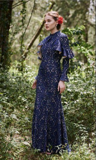 FOR RENT: Zalia Lace Frill Mermaid Dress