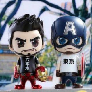全新限量版日本六本木 Cosbaby Ironman Captain America 套裝,最後一套