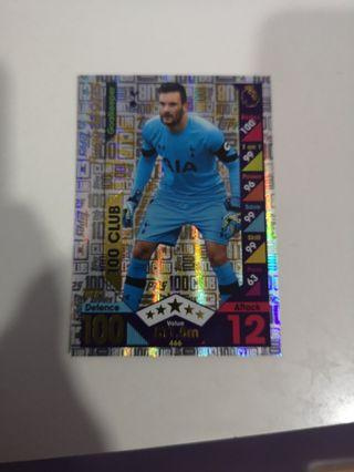 🚚 Hugo lloris 100 club 2016/17 match attax