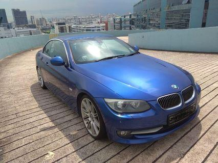 BMW 335i convertible for rental