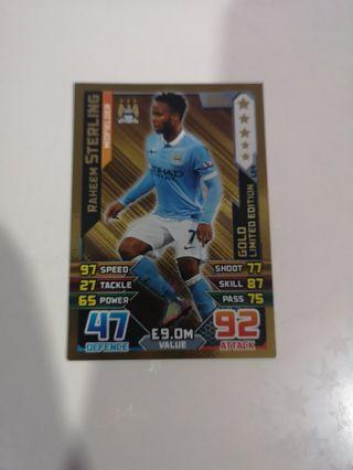 Sterling gold limited edition 2014/15 match attax