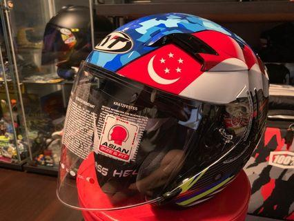 Kyt Helmet Singapore / Malaysia Open Face With Tinted Visor