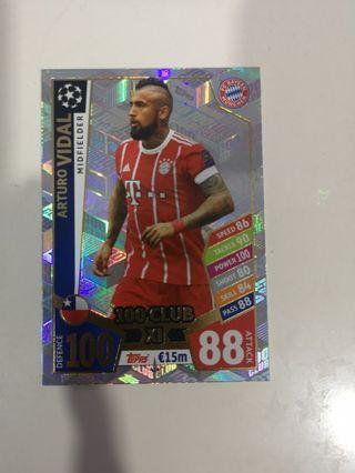 Vidal 100 club 2017/18 match attax