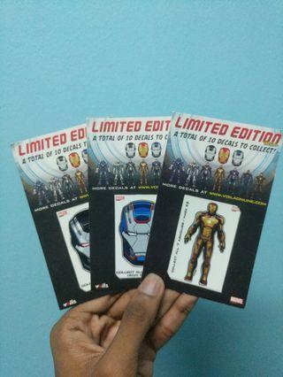 Iron Man high quality decals