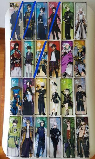Touken Ranbu Chara Card Bookmarks
