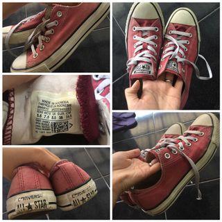 #maudandan Sepatu converse Maroon