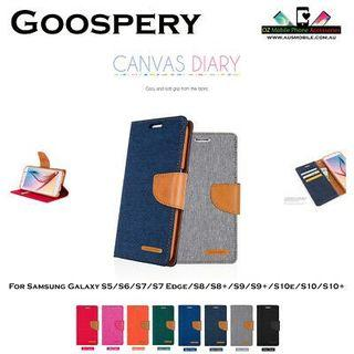 Goosepery Mercury canvas fancy diary flip case cover pouch