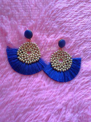 Tassel Bohemian Earrings Blue
