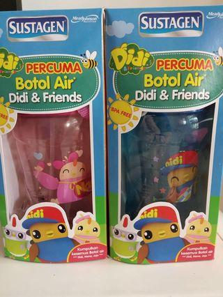 Didi and Friends water bottles
