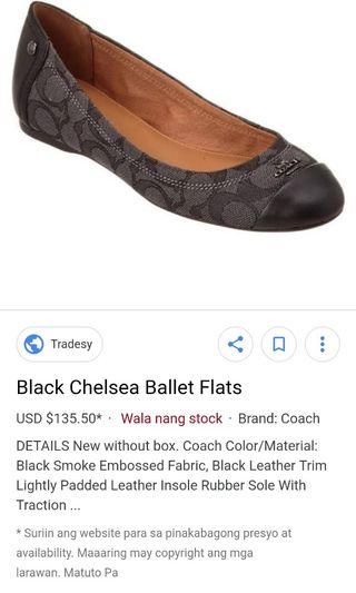 652aa4959110 coach flats | Women's Fashion | Carousell Philippines
