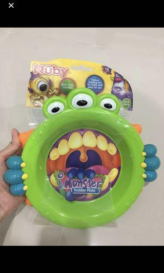 Nuby Monster Toddler Plate  #carouselland