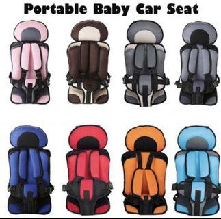 Portable car seat 6 mths to 6 years old baby, kids, child - pink