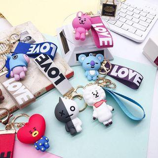BT21 BTS SILICON  MINI STRAP KEYRINGS