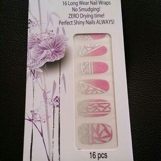 Pink Pretty Stylish Manicure Effects  Nail Foil Nail Wrap Nail Stickers