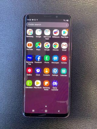 FOR SALE:SAMSUNG S9 PLUS 128GB (PURPLE)(USED)