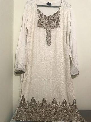White beige brown nude lace kurti kurta blouse