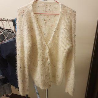 MO-BO  白色彩色點點保暖外套